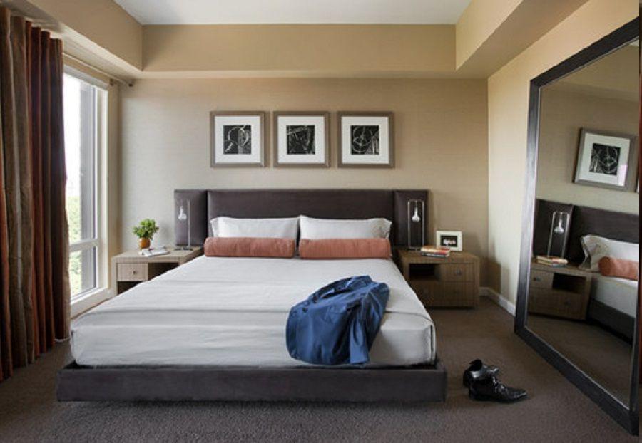 calm mens bedroom ideas with modern bedframe design also huge