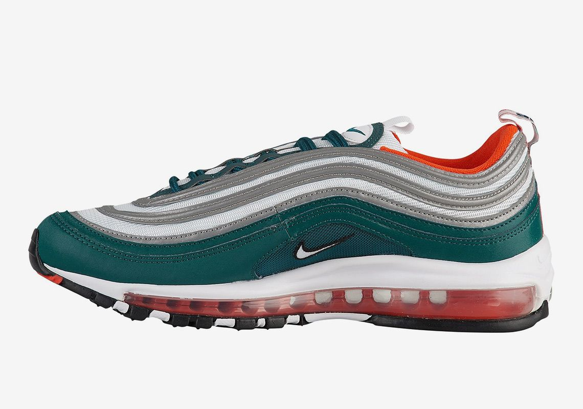 Nike Air Max 97 Miami Dolphins Is Available Now Nike Air Max 97 Nike Air Max Cheap Nike Air Max