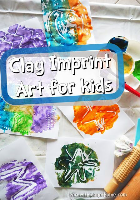 Clay Imprint Art For Kids Cool Art Projects For Kids Art For