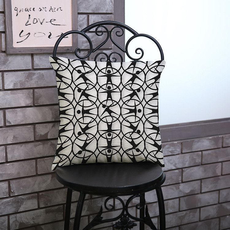 Hot Sale Obeny Cotton Linen Cushion No Filler Pillow Chair Car Sofa Cushions Decorative Throw Pillows 45*45cm