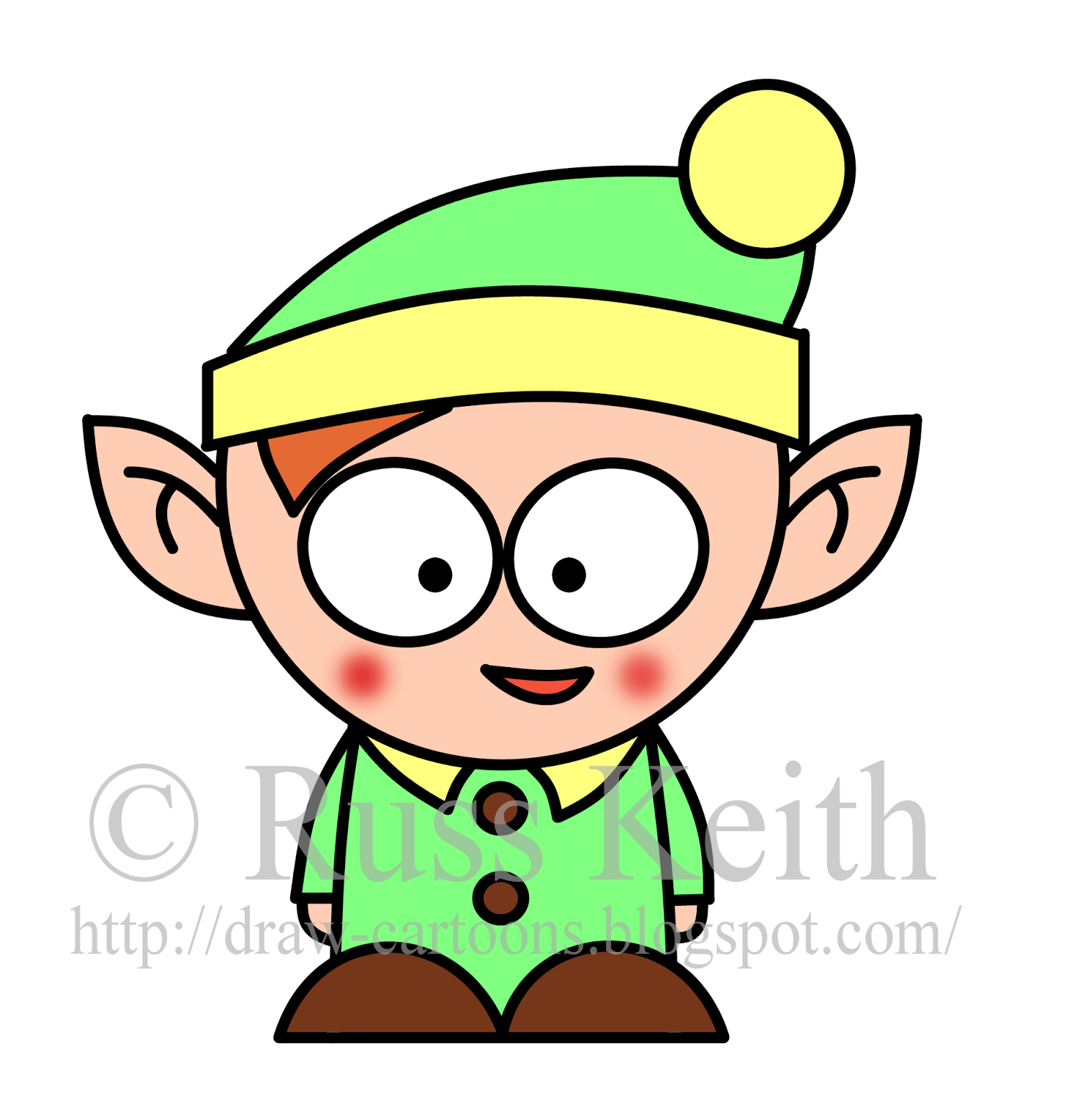 How To Draw Cartoons Christmas Elf Cartoon drawings