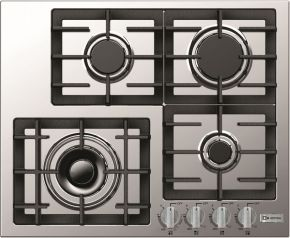 Verona Designer Series Vectgm244ss 24 Gas Cooktop With 4 Burner Design Front Controls Sealed Burners Heavy Duty Cast Iron With Images Gas Cooktop Gas Stove Top Cooktop