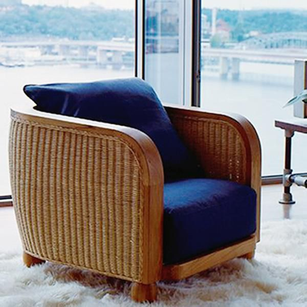 Clubsessel modern aus rattan lobby lambert - Rattanmobel wohnzimmer ...