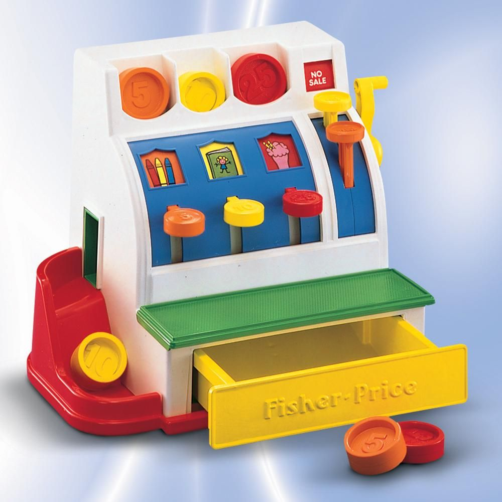 Fisher Price Registrierkasse Kaufladen Zubehör Kinder Kasse Spielkasse Fisher Price Fisher Price Kinder Kasse Registrierkasse