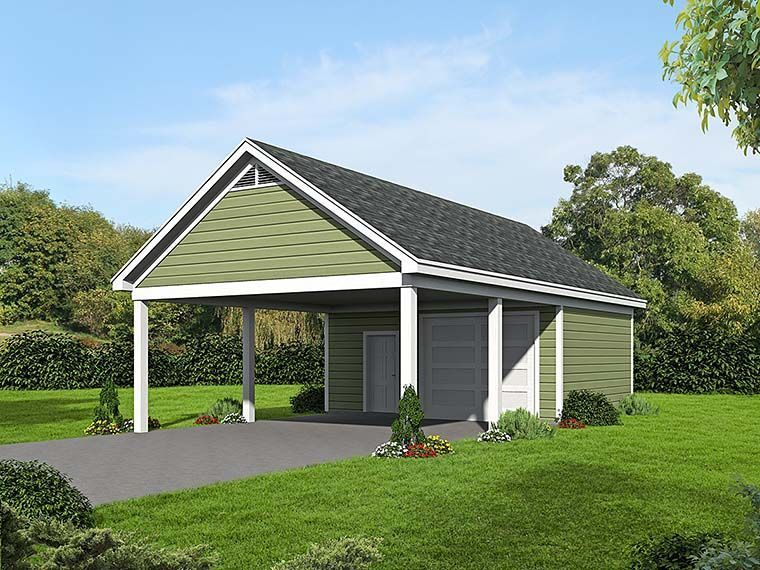2 Car Garage Plan Number 51536 in 2020 Carport plans