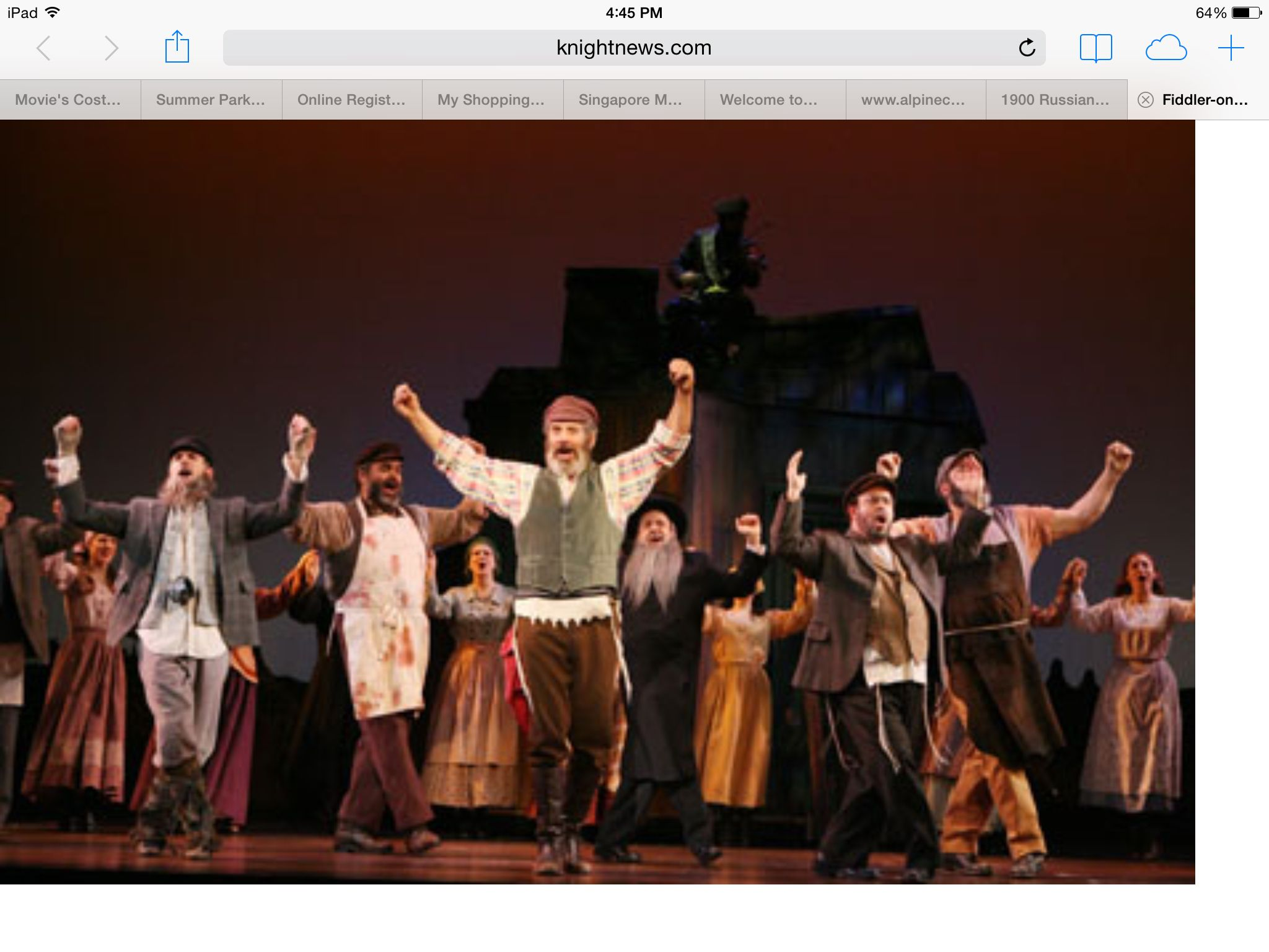Explore Fiddler On The Roof, On The Roofs, And More!