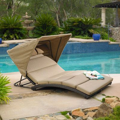Costco Oceanview Double Chaise Lounge With Canopy By Mission Hills Double Chaise Lounge Patio Lounge Chairs Chaise Lounger