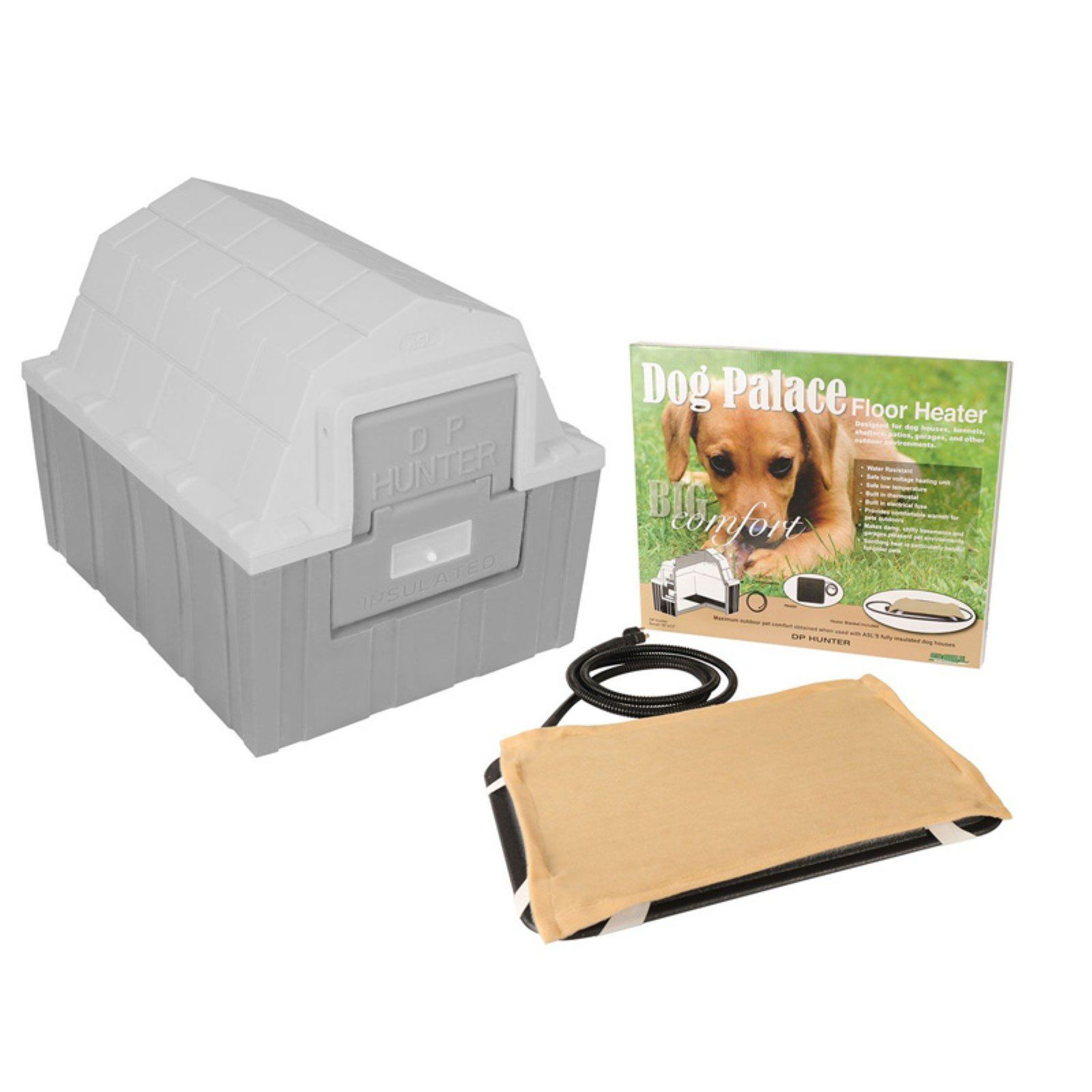 Asl Solutions Dp Hunter Gray Dog House Insulated Dog House