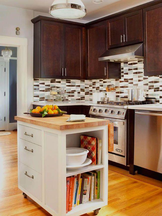 20 Big Ideas For Small Kitchens Kitchen Island Storage Small