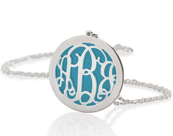 Monogram Necklace 1.25 Personalized Monogram  by BestPersJewelry, $35.95