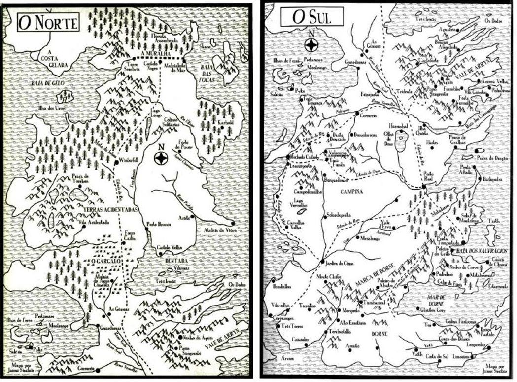 O Mapa Do Livro As Cronicas De Gelo E Fogo Com Imagens As