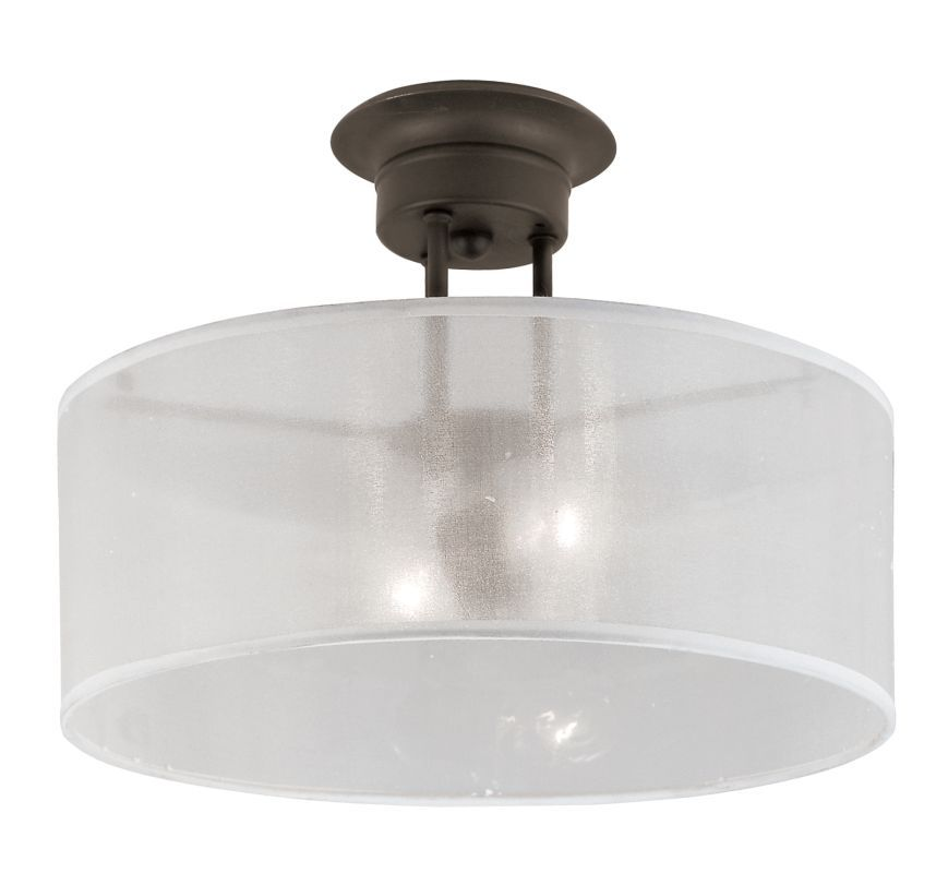 Trans Globe Lighting 3927 2 Light Semi Flush Ceiling Fixture From The Modern Mee Rubbed