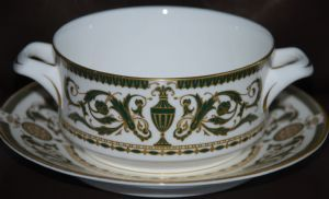 """ROYAL WORCESTER CHINA ~ Pattern : """" WINDSOR """" Soup Coupe & Saucer"""