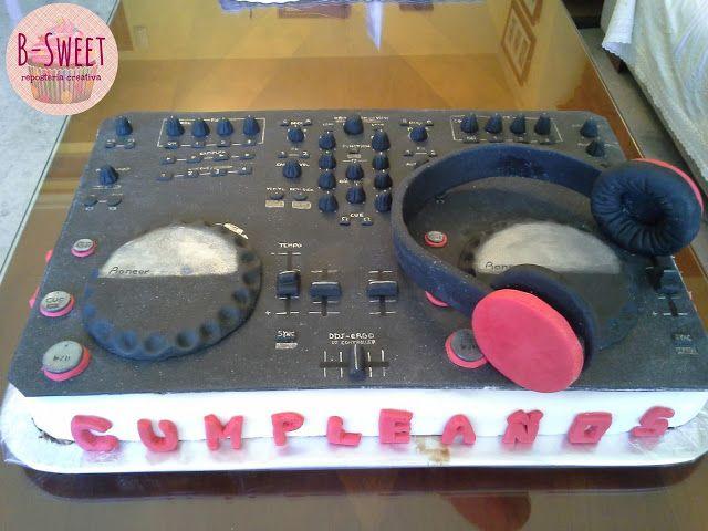 Tarta fondant mesa de mezclas tartas fondant pinterest for Mesa de mezclas dj