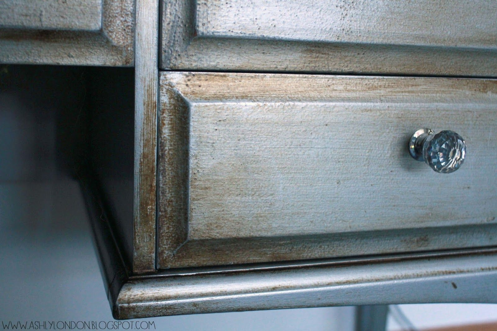 silver painted furniture. Silver With Dark Wax Painted Furniture G