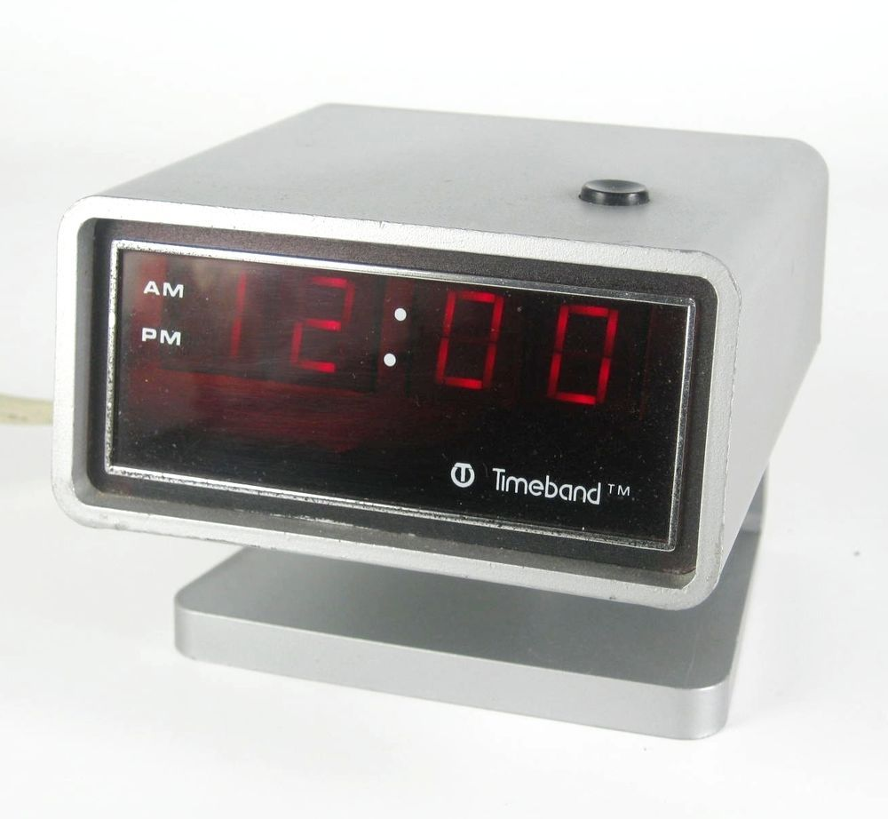 timeband digital wecker 60er 70er jahre modell 500 usa alarm clock vintage product flipclock. Black Bedroom Furniture Sets. Home Design Ideas