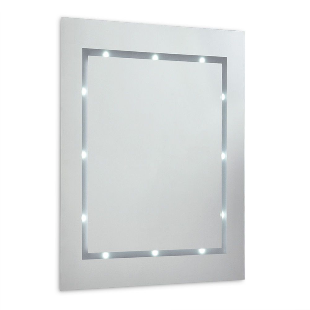 Modern Battery Powered Led Lights Illuminated Bathroom Wall Mirror Ip44 Light Battery Powered Led Lights Mirror Bathroom
