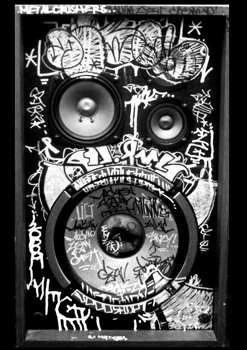 Grafitti Speaker Offices Amp Stuffs Hip Hop Tattoo Hip