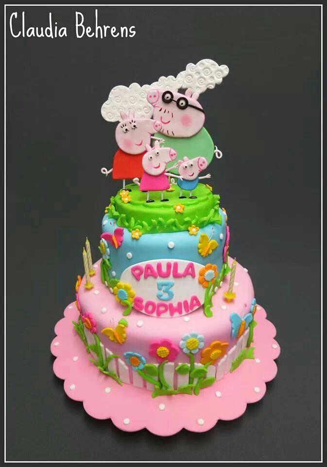 Pin By Nicole Mendoza On Desserts Peppa Pig Cake Peppa Pig Birthday Kids Cake