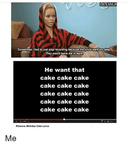 Rihanna Birthday Cake Lyrics Genius Lyrics