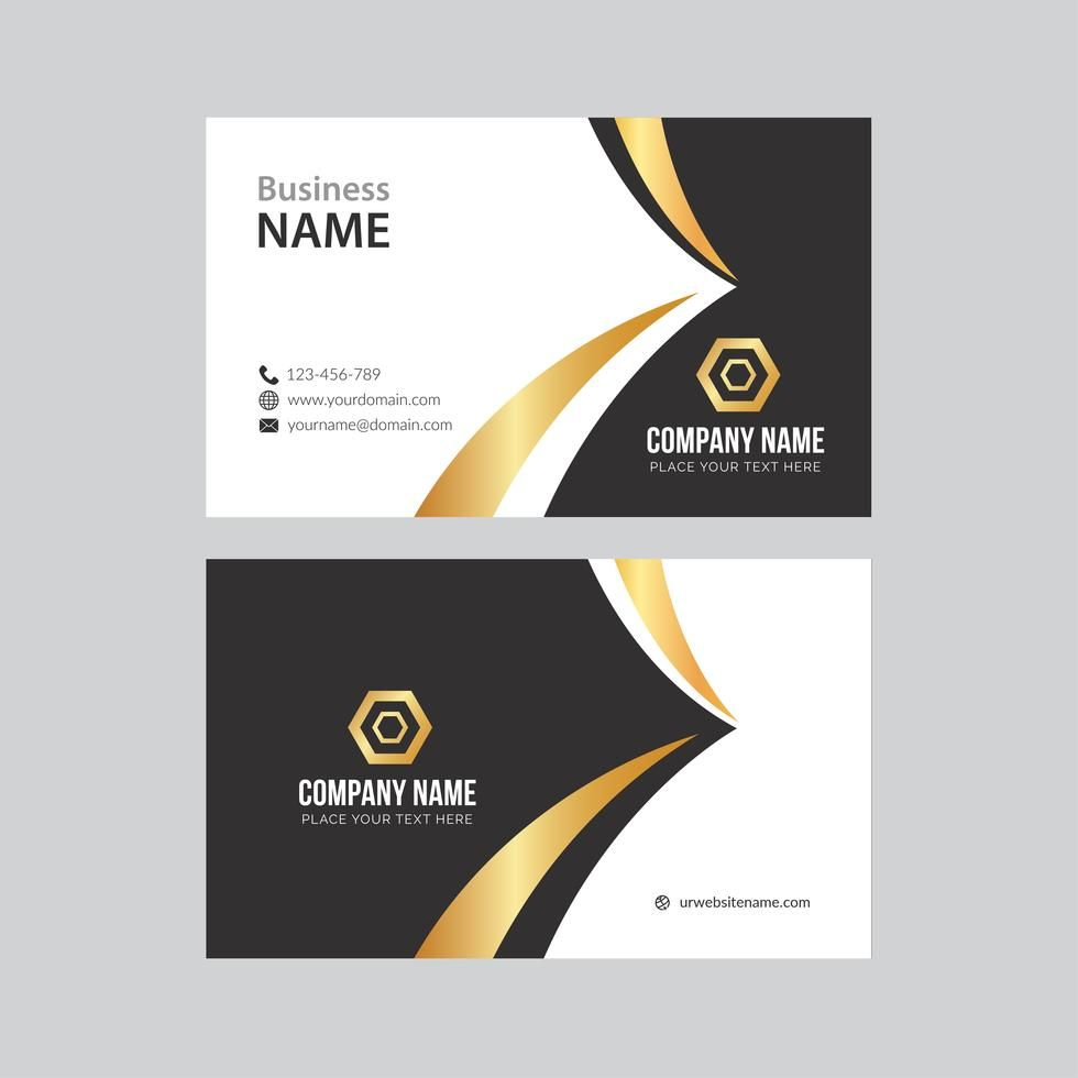 Black And Gold Business Card Gold Business Card Modern Business