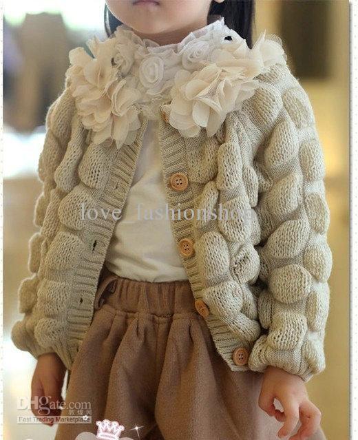 gorgeous knit kids jaquet. Cute little girl!