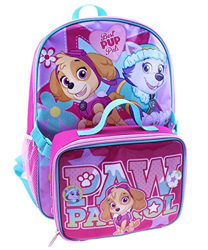 Nickelodeon Girls Paw Patrol School Backpack And Lunch Bag Set See This Great Product Paw Patrol Backpack Backpack Lunch Bag Lunch Bag