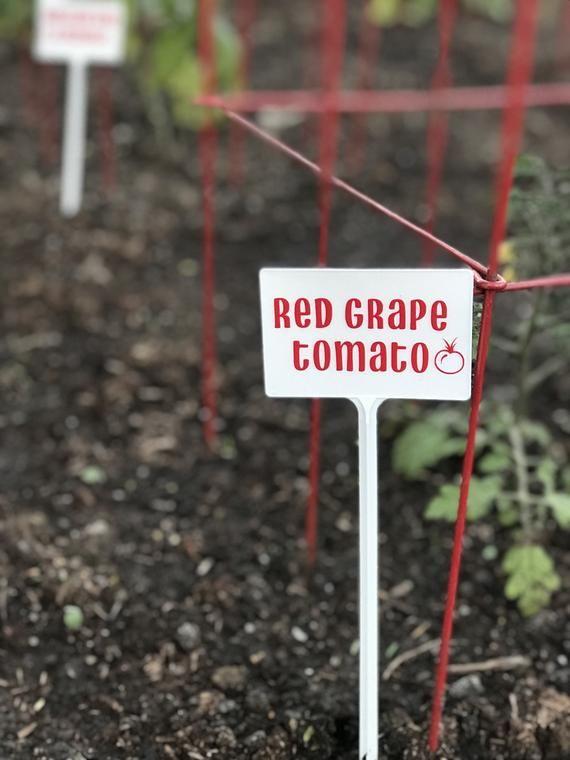Vegetable Garden Markers Plastic Weather Proof Garden