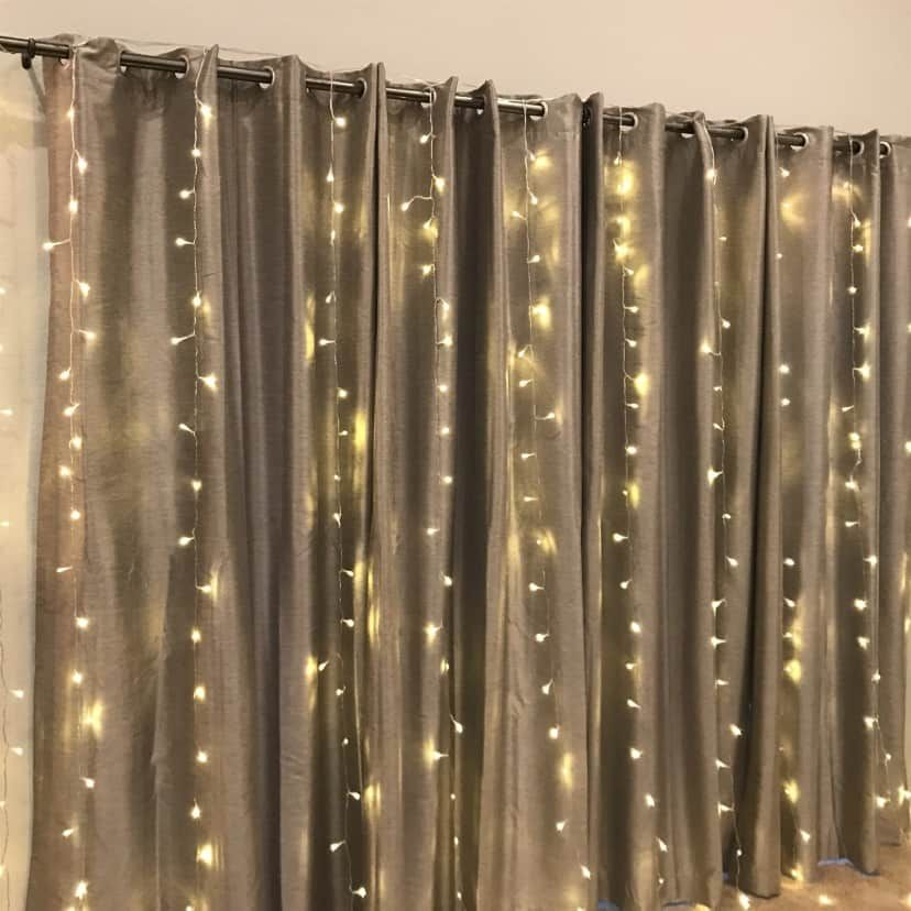 Daily H2o Tracker Water Bottle Led Curtain Lights Twinkle
