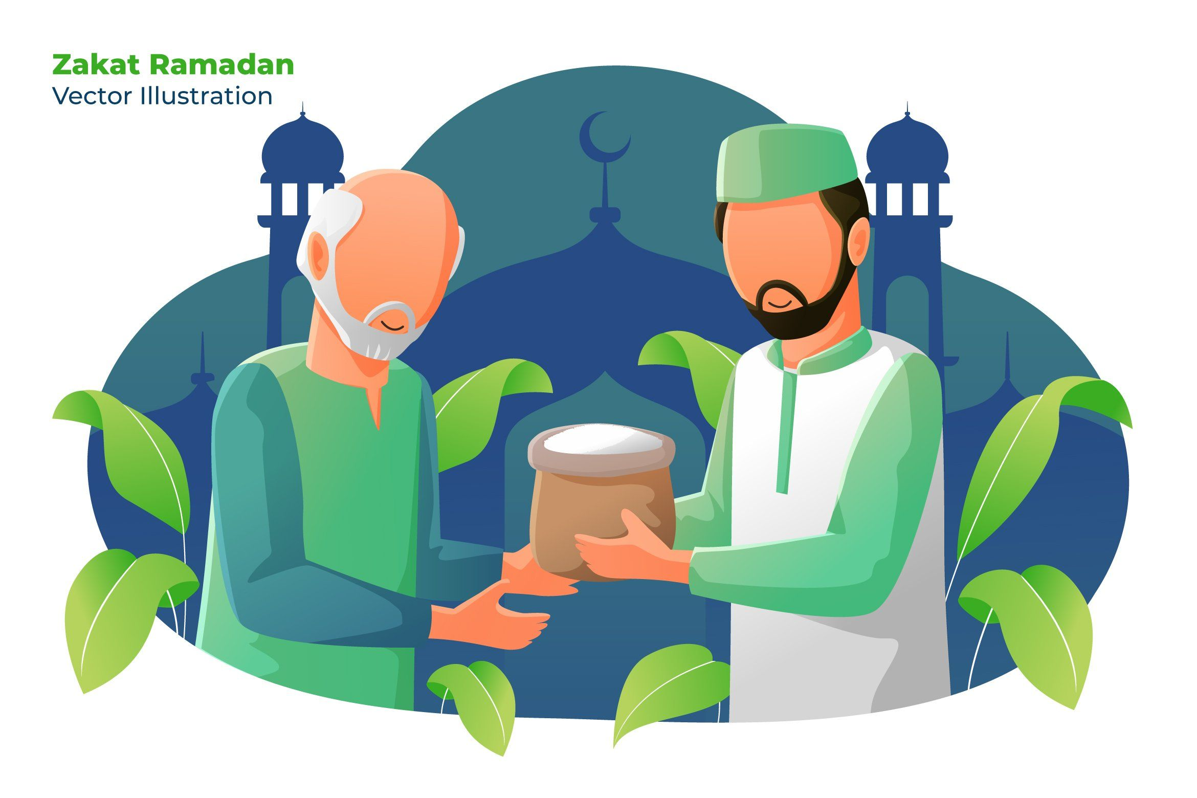 Zakat Ramadan - Vector Illustration by AQR Studio on