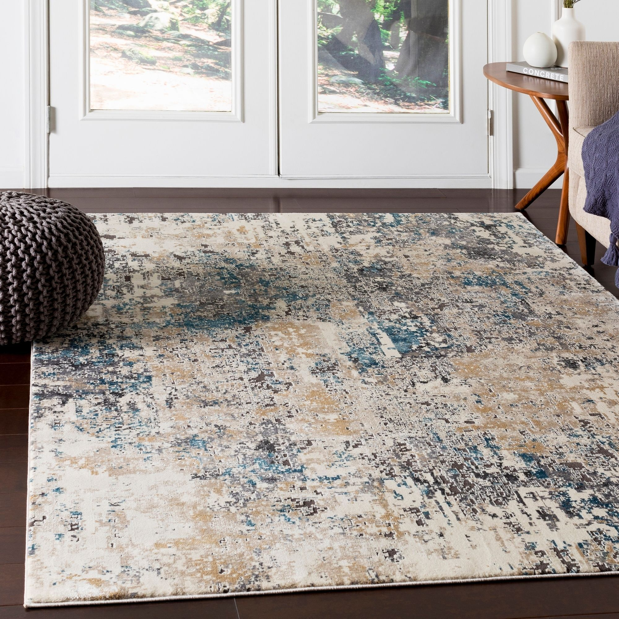 Porch Den Highcreek Charcoal Teal Abstract Area Rug 9 3 X 12 3 In 2020 Area Rugs Beige Area Rugs Rugs