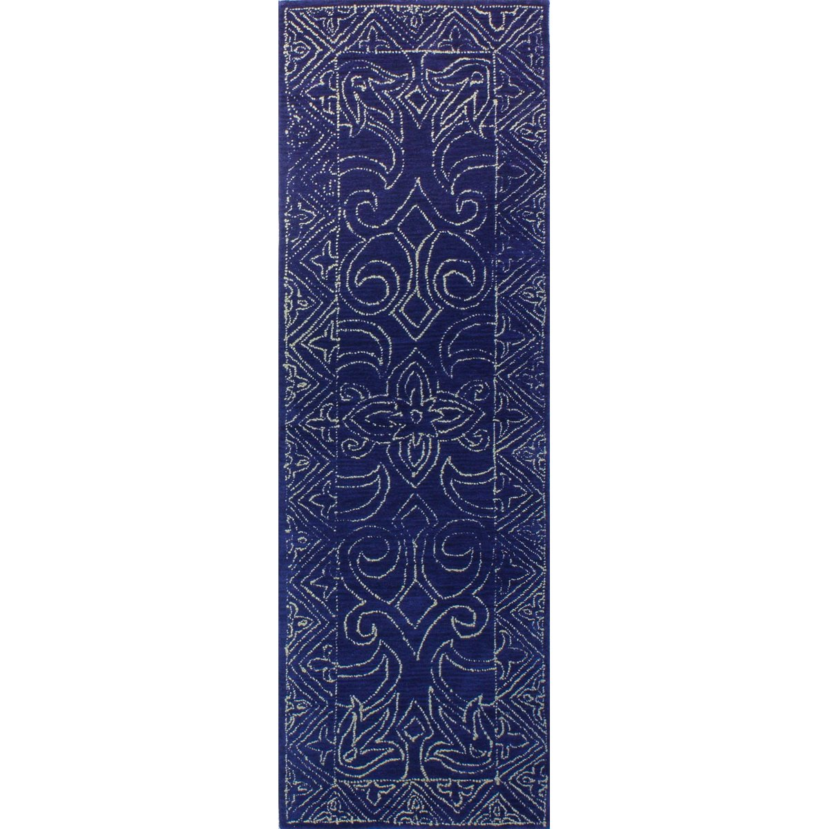 Navy Blue 8 Foot Runner Rug Venezia Area Rugs Rugs Hand Tufted Rugs