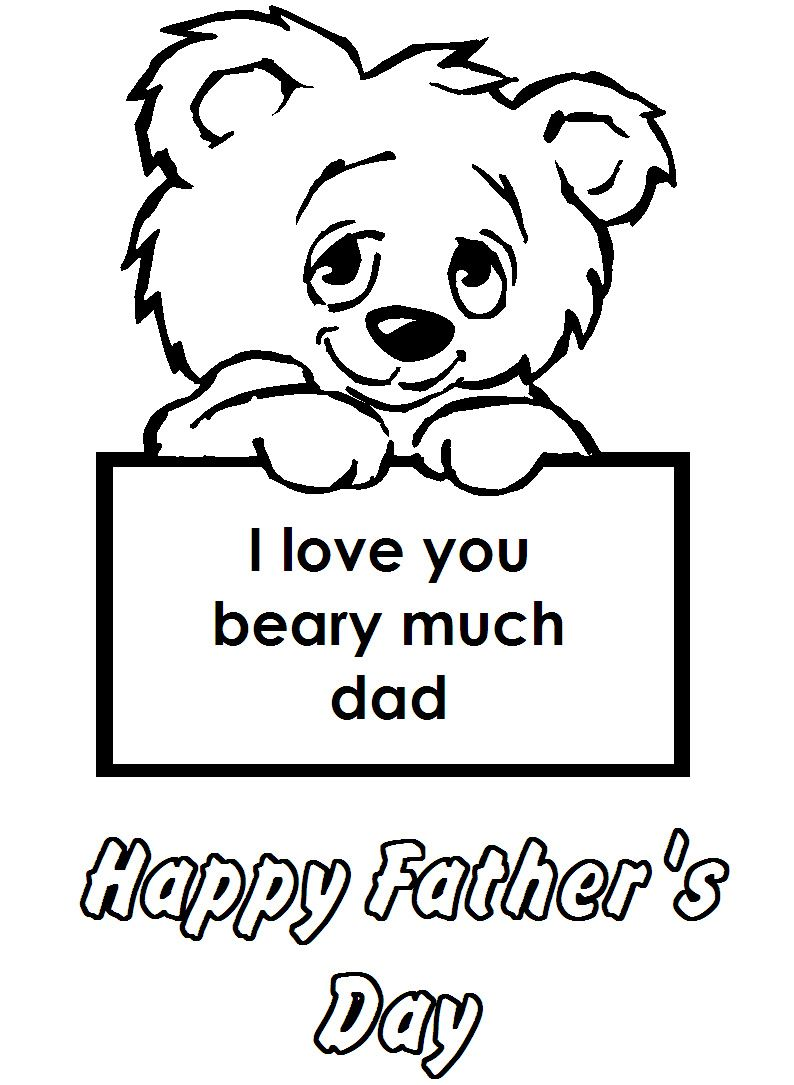Happy Fathers Day Coloring Pages Printable Procoloring
