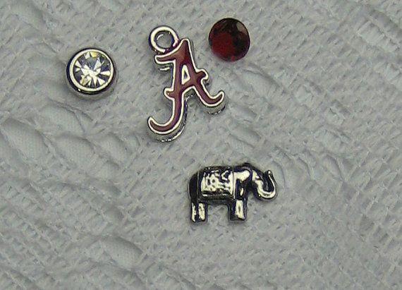 Alabama Houndstooth Memory Locket Jewelry by PSJewelryDesigns