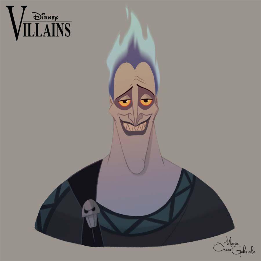 Personagens Disney Em Retratos Hades Disney Personagens Disney