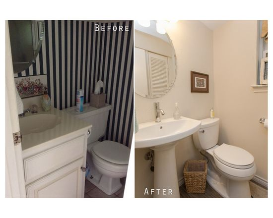 Give A Simple Look With Off White Wall Paint And Without Cabinet - Bathroom remodel flower mound tx