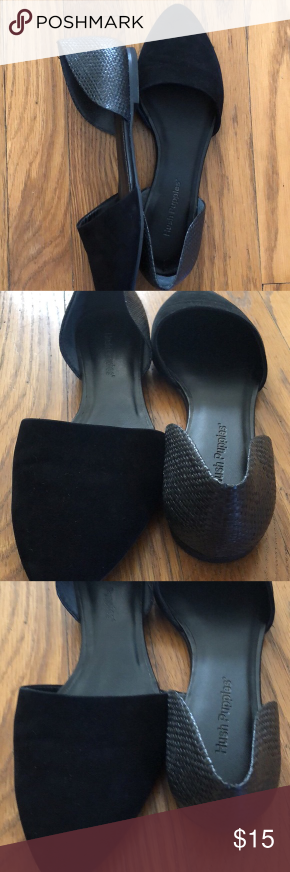 Hush puppies Black Flats (With images) Hush puppies