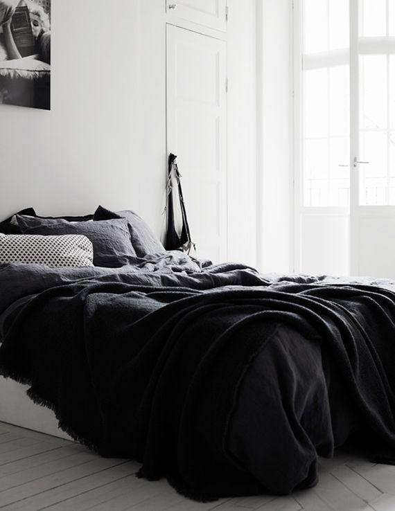 Black And White Scandinavian Bedrooms Bedroom Black White Apartment Black White Bedrooms