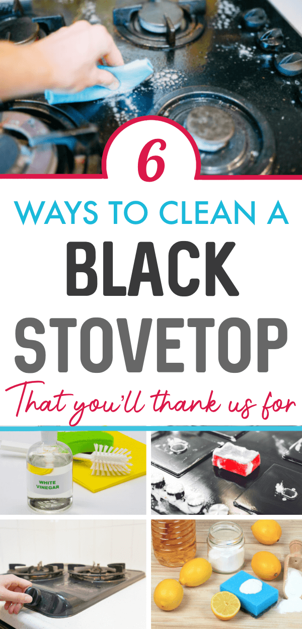 How To Clean A Black Stovetop Cleaning Hacks Household Cleaning Tips Grease Cleaner