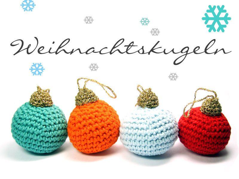 Häkelanleitung Weihnachtskugeln ☆ EBook | Christbaumschmuck, Kugeln ...
