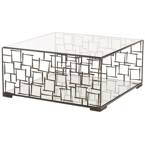 Ordinaire Arteriors Ecko Metal Cage Cocktail Table ($2,400) ❤ Liked On Polyvore  Featuring Home,