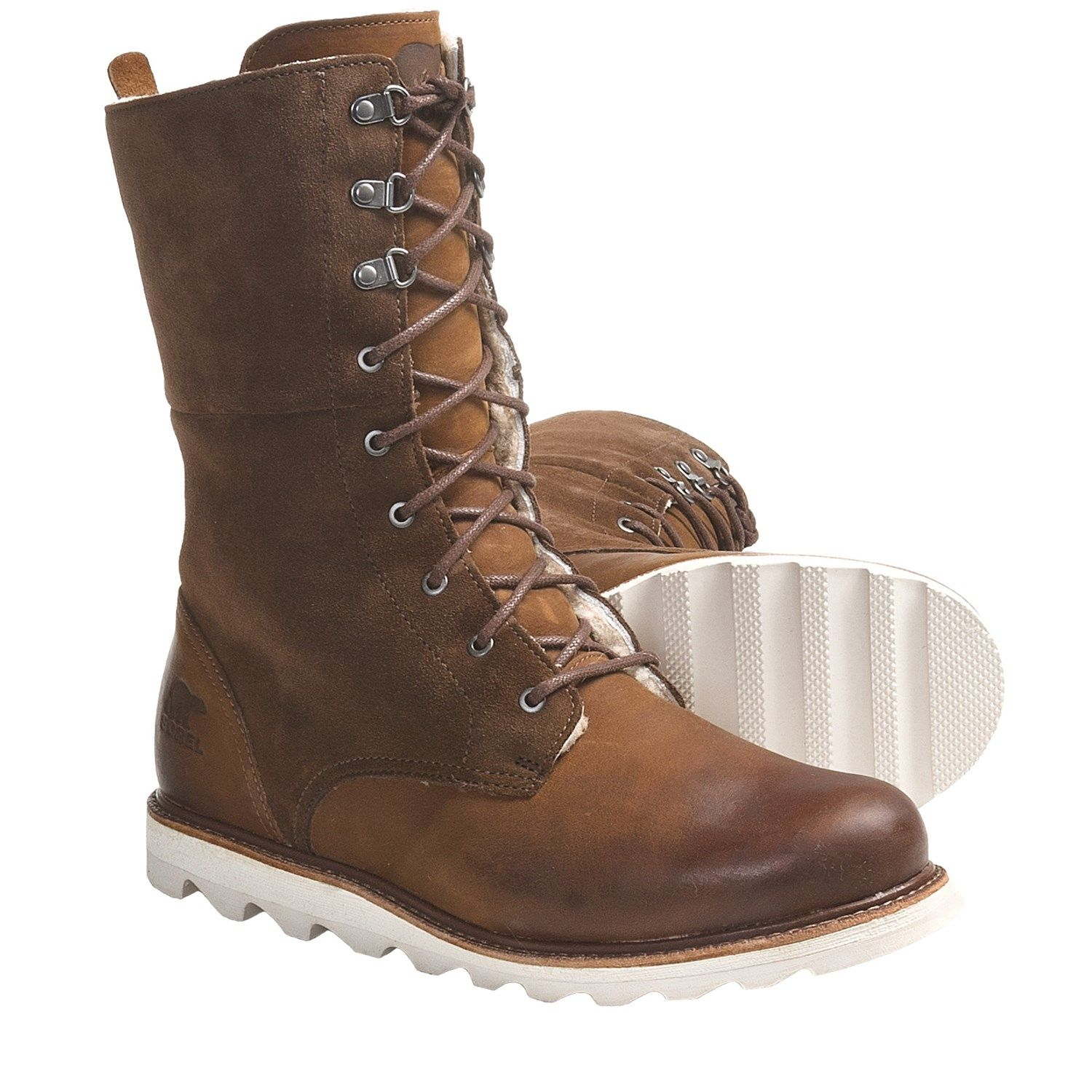 Sorel Wicked Work Boots - Leather, Shearling Lining (For Women) in ...