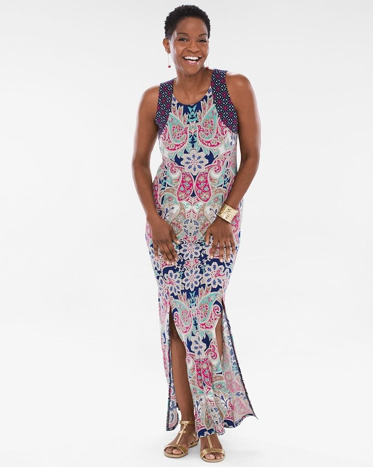e9333d6ceb Chico s Women s Crown Paisley Maxi Dress Paisley Dress