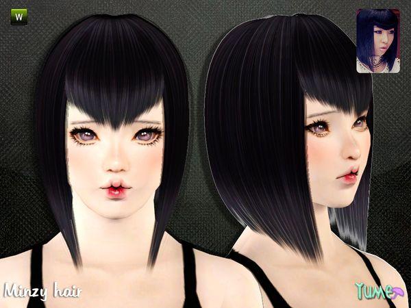 Yume Minzy Hair By Zauma Sims 3 Downloads Cc Caboodle Simstuff
