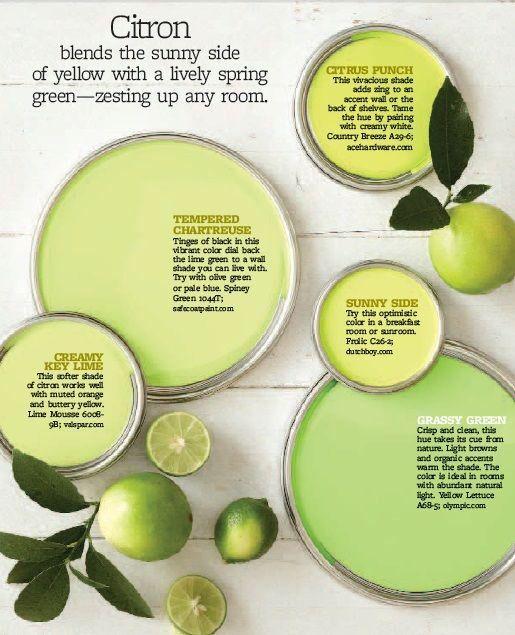 Citron Lime Green Paints Paint Walls Kitchen Colors