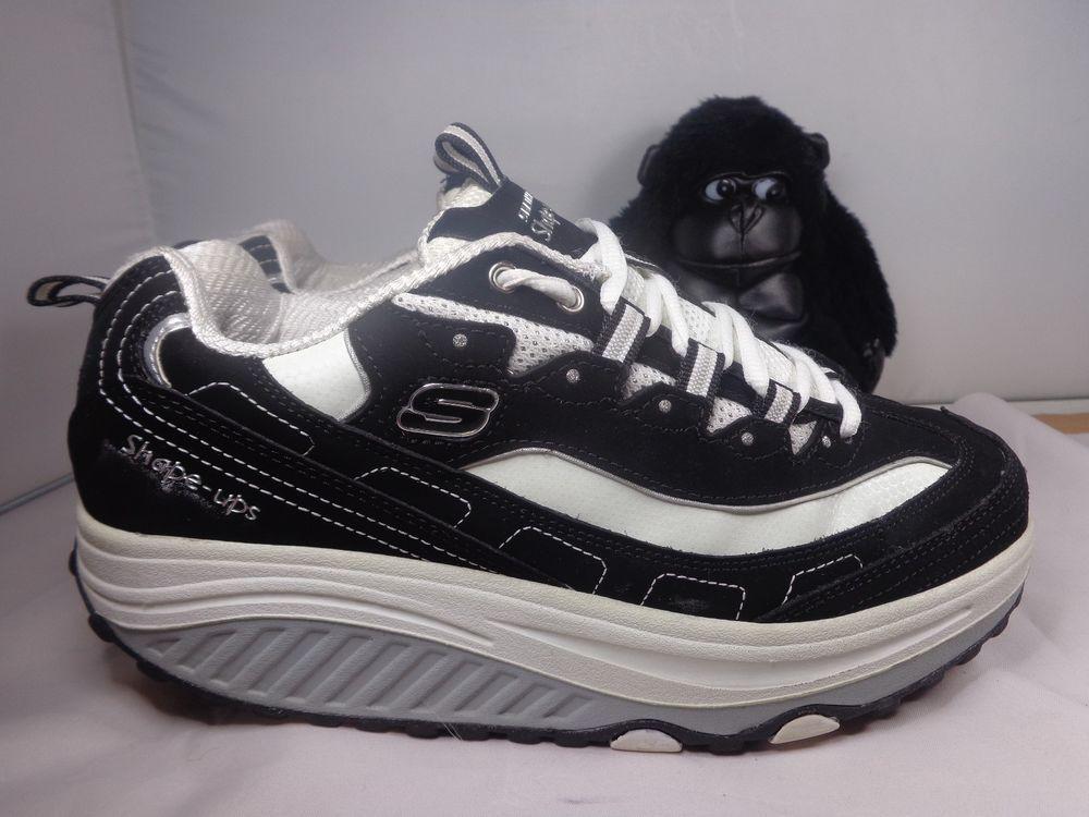 Skechers Shape Ups Black Running Walking Crossfit Training Shoes Ladies Size 8