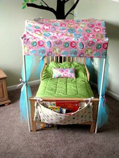 Cute Idea For PVC Pipe And Toddler Bed