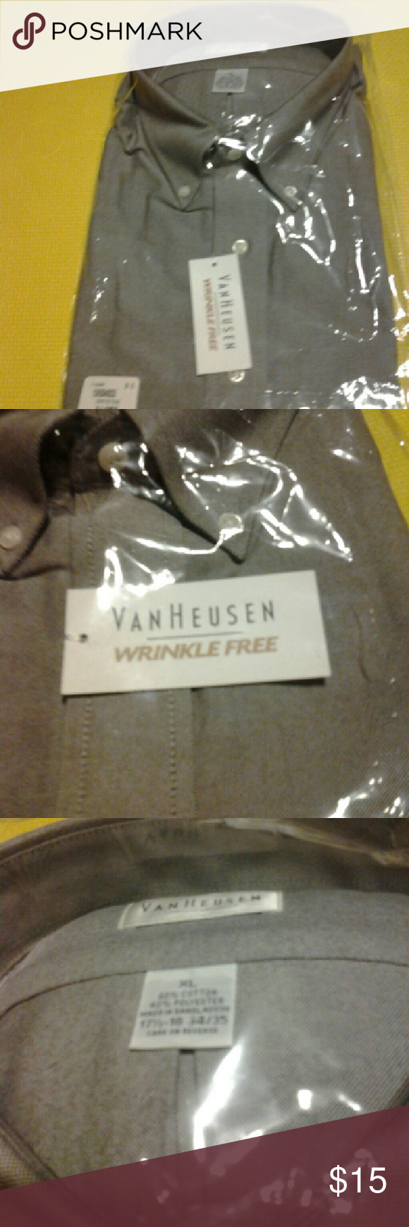 Shirt Van Huesen greystone long sleeve button down dress shirt, new still in package, no price tag Van Heusen Shirts Dress Shirts