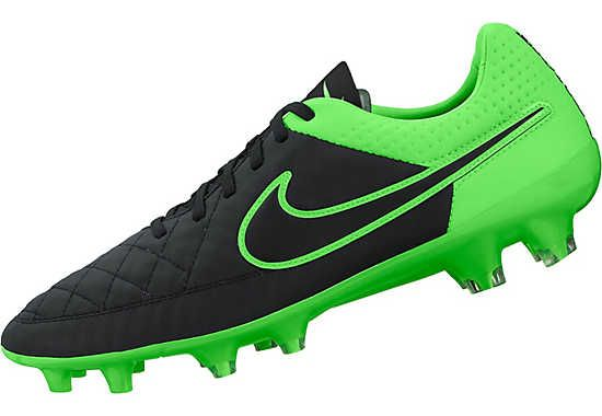 0e72672a9a7 Nike Tiempo Legacy FG Soccer Cleats - Black and Green