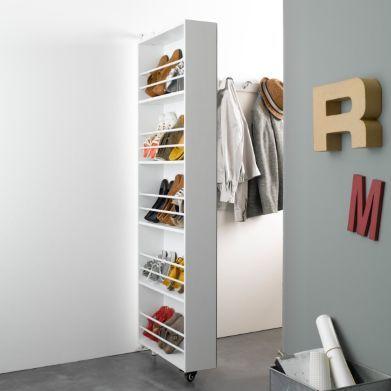 Armoire Chaussures Pivotante Avec Miroir Jusquà 15 Paires